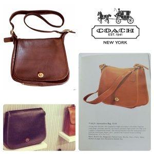 Coach Limited Edition Stewardess Bag 9525 Dk Brown